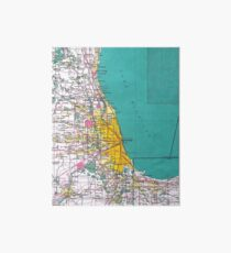 Chicago Map Art Board