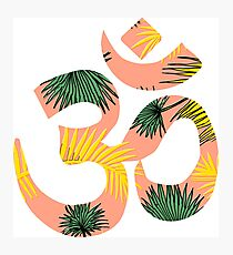 Om Leaves Photographic Print