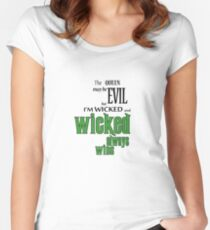 Wicked always wins Women's Fitted Scoop T-Shirt