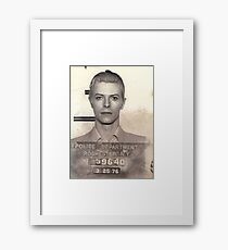 DAVID BOWIE MUGSHOT  Framed Print