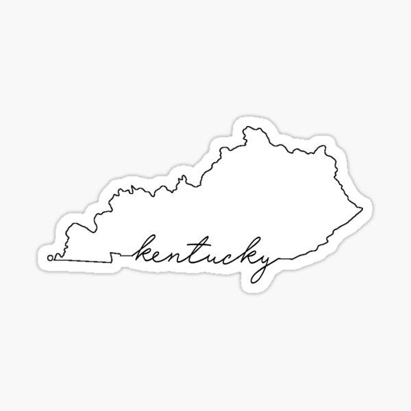 Kentucky State Outline Vinyl Sticker・Cursive State Vinyl Stickers・vsco Stickers・ Kentucky Gift・Kentucky Present・Kentucky Decals・Waterproof Stickers
