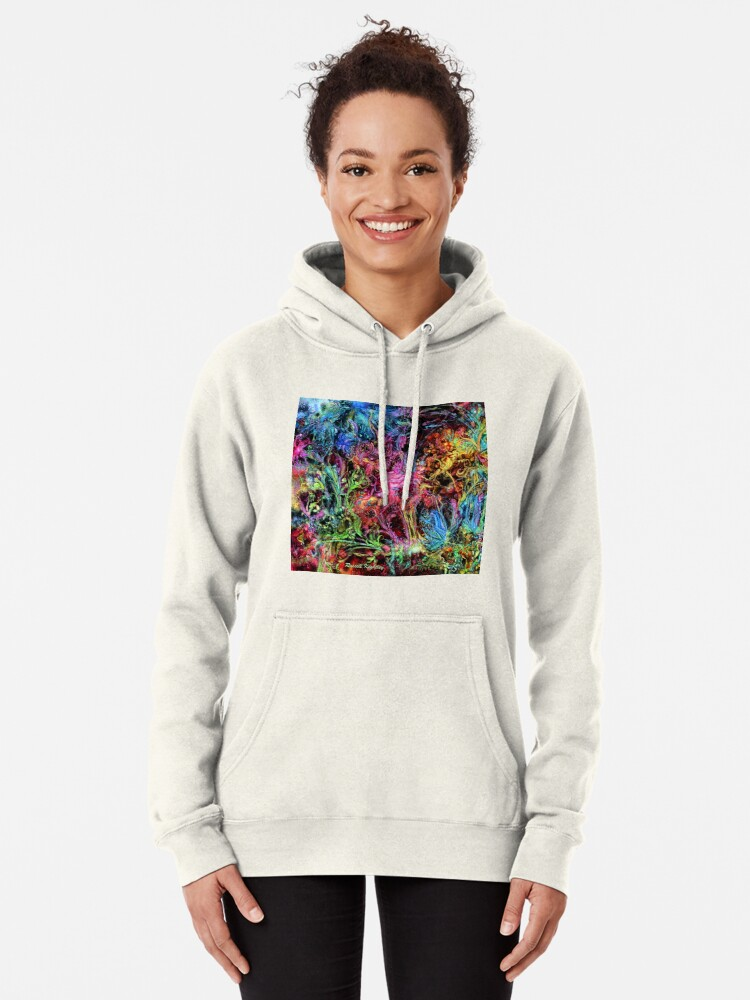 Alternate view of Qualia's Garden (Spring Time) Pullover Hoodie
