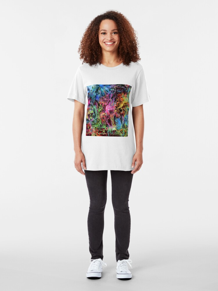Alternate view of Qualia's Garden (Spring Time) Slim Fit T-Shirt