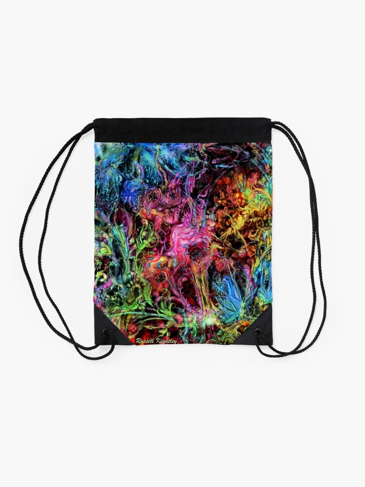 Alternate view of Qualia's Garden (Spring Time) Drawstring Bag