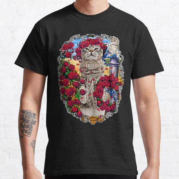 GRATEFUL CATS AND ROSES Classic T-Shirt