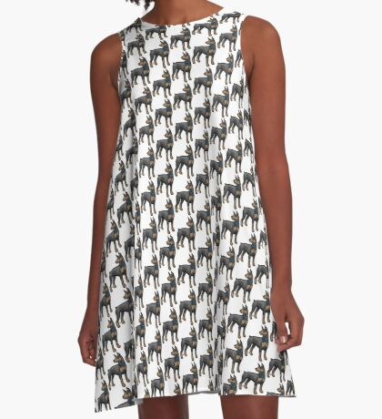 Doberman A-Line Dress