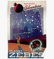 Metroid Travels to Planet Zebes Poster