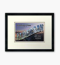 Alderaan Postcard Framed Print