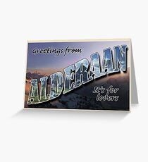 Alderaan Postcard Greeting Card