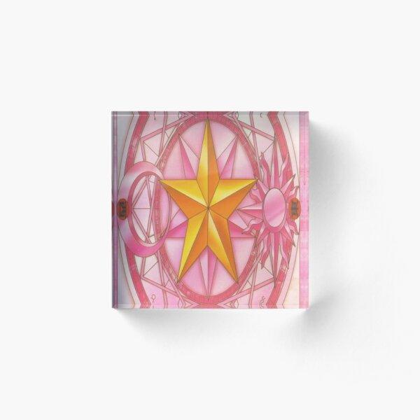 Sakura Card Design - Cardcaptor Sakura Acrylic Block