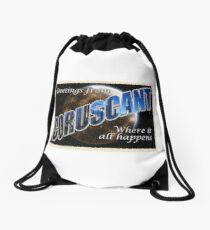 Coruscant Postcard Drawstring Bag