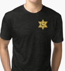 Pocket Muslim Jewish Star Tri-blend T-Shirt
