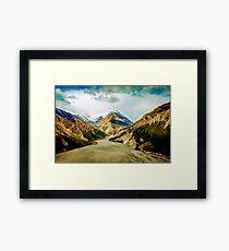 Seasoned Mountains Framed Print