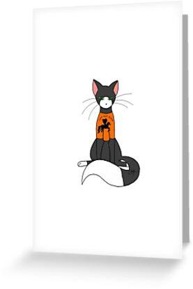 Cat wearing T-Shirt Design by Hawkfrost224