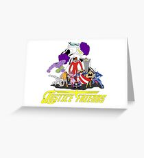 JUSTICE FRIENDS Greeting Card