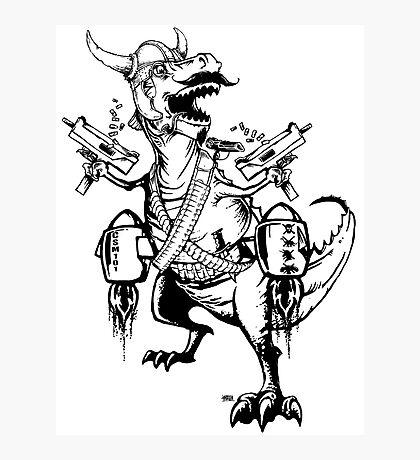 AWESOMEOSAURUS - the Baddest Asskickingest T-Rex Ever! Photographic Print
