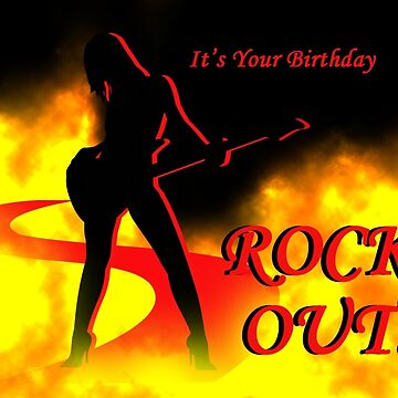 It's Your Birthday Rock Out by graphicbuttease