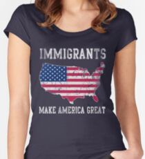 Immigrants Make America Great Women's Fitted Scoop T-Shirt