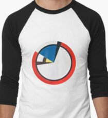 Mondrian Round Men's Baseball ¾ T-Shirt