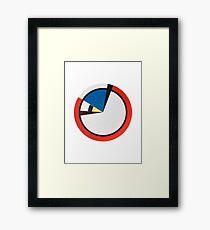 Mondrian Round Framed Print