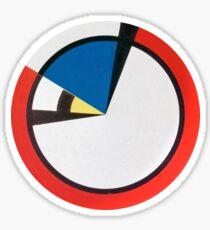 Mondrian Round Sticker