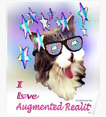 I Love Augmented Reality Poster