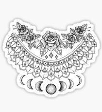 Lunar Floral Mandala Sticker