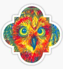 quatrefoil owl Sticker