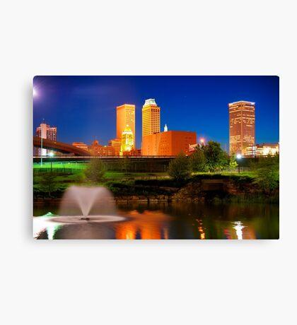 Vibrant Tulsa Skyline Canvas Print
