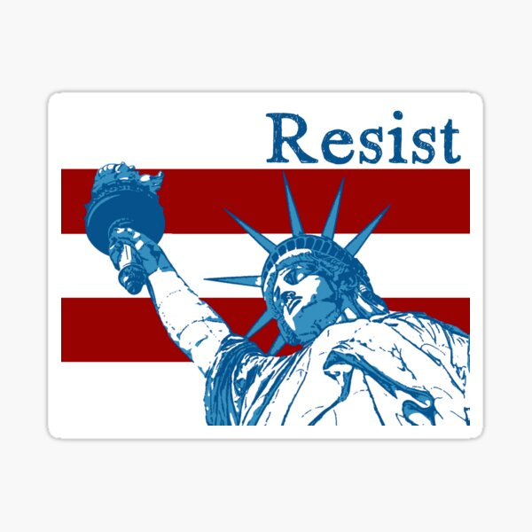 The Lady Doth Protest Sticker