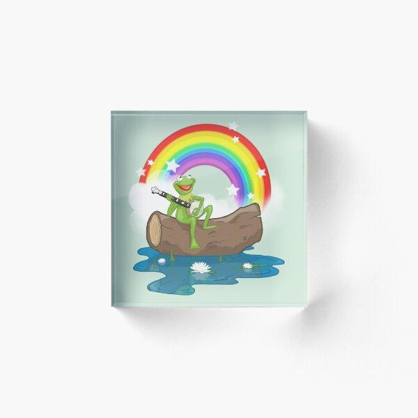 The Rainbow Connection Acrylic Block