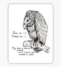 vulture valentine Sticker