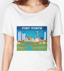 Fort Worth, Texas - Collage Illustration by Loose Petals Women's Relaxed Fit T-Shirt