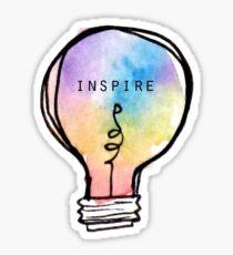 Inspire Tie Dye Lightbulb Sticker