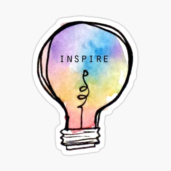 Inspire Tie Dye Lightbulb Sticker