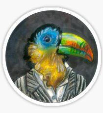 yuppie toucan Sticker