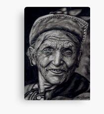 nepali old woman Canvas Print