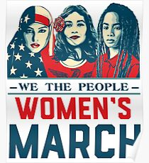 women's march t shirt Poster