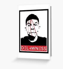DELAWNESS THE GIANT Greeting Card