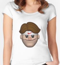 SPORT ROGER FEDERER EMOJI Exclusive t-shirt Women's Fitted Scoop T-Shirt