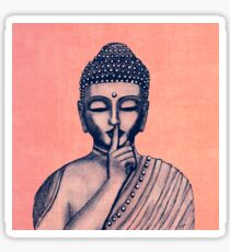 Buddha Shh... Do not disturb in Coral Sticker