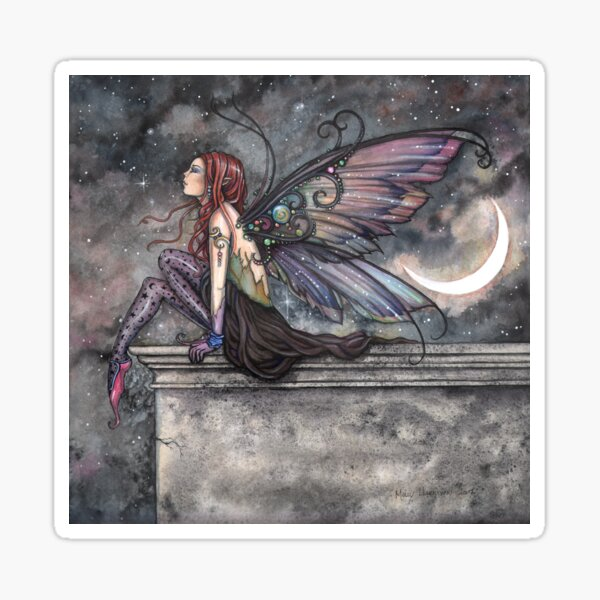 Ready for Flight Fairy Fantasy Art by Molly Harrison Sticker