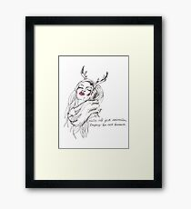 we're all just animals, trying to act human Framed Print