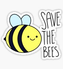 Save The Bees w/ text Sticker