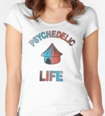 Psychedelic Life  Women's Fitted Scoop T-Shirt