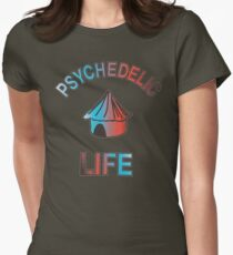 Psychedelic Life  Womens Fitted T-Shirt