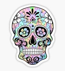 Sugar Skull Rainbow Sticker