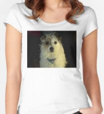 Portrait Of A Terrier Women's Fitted Scoop T-Shirt