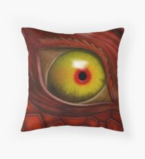 Eye Of The Red Dragon (Art Version) Throw Pillow