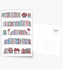 Springtime Bookcase Postcards